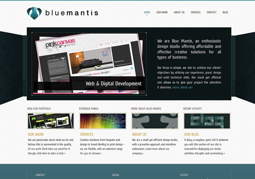 A great web design by Blue Mantis, Leeds, United Kingdom: