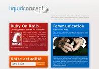 A great web design by Liquid Concept, Lausanne, Switzerland: