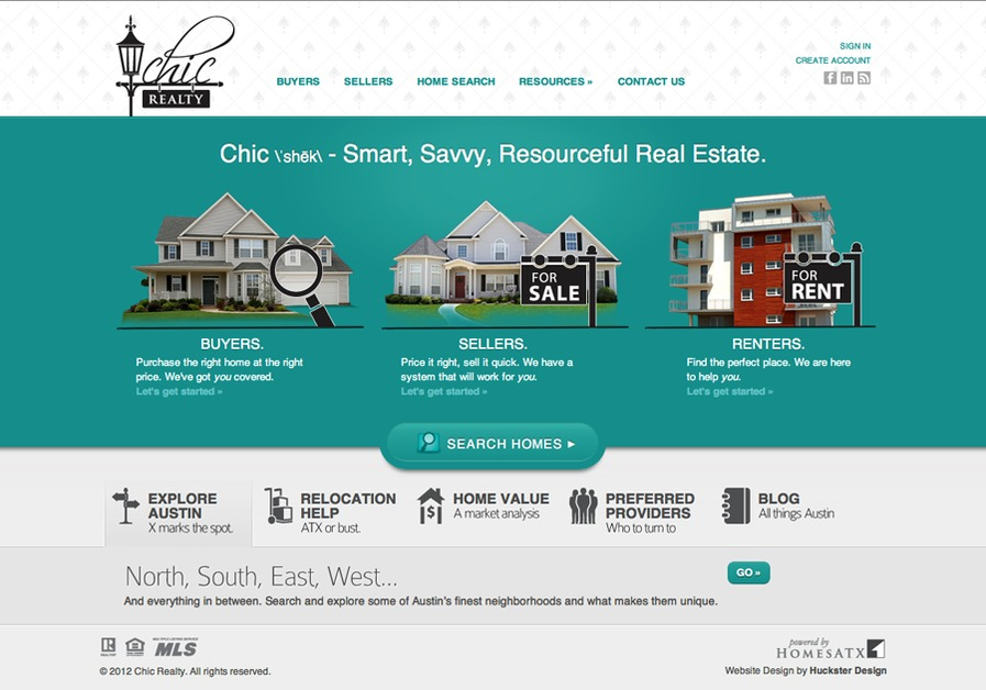 A great web design by Huckster Design and Development, Austin, TX: