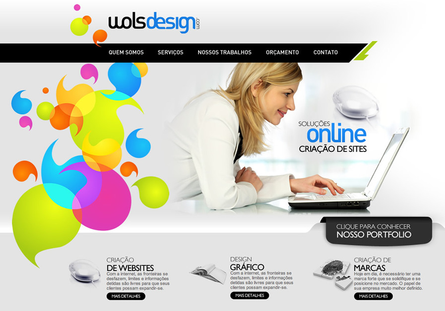A great web design by Wols Design, Sao Paulo, Brazil: