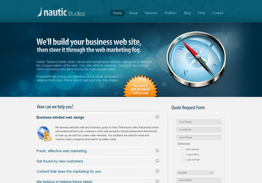 A great web design by Nautic Studios, Satellite Beach, FL: