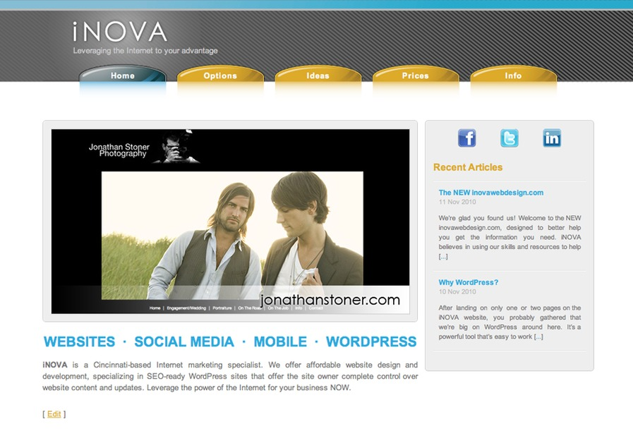 A great web design by iNOVA Web Design, Cincinnati, OH: