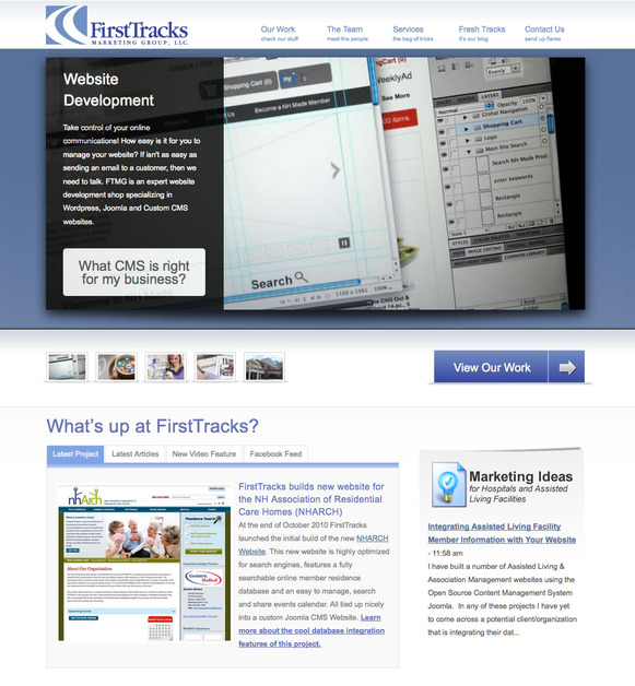 A great web design by FirstTracks Marketing Group, Boston, MA: