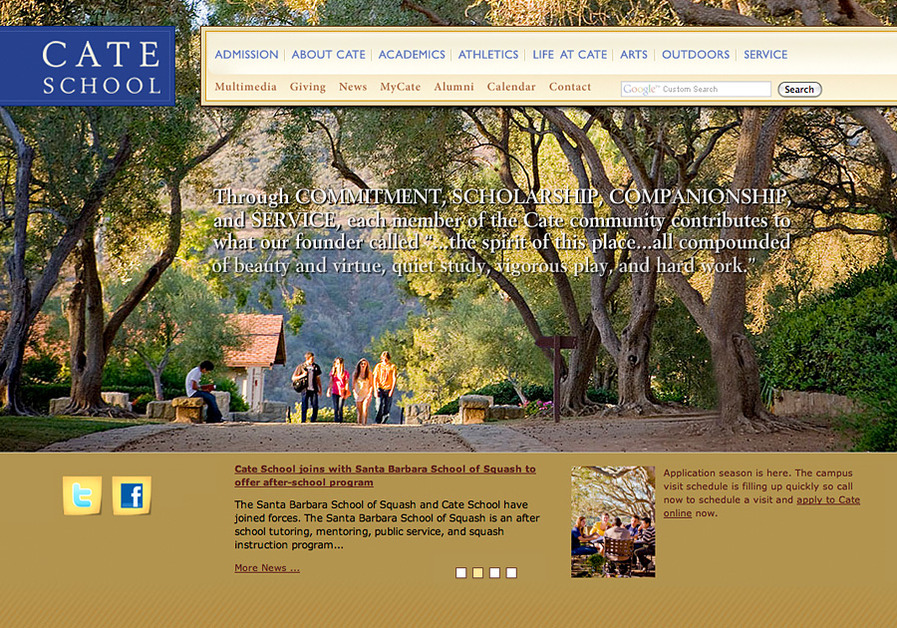 A great web design by Hallström Design, Santa Barbara, CA: