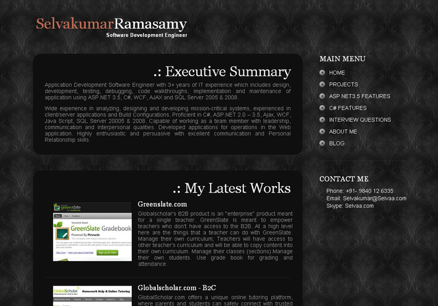 A great web design by selvaa.com, Chennai, India: