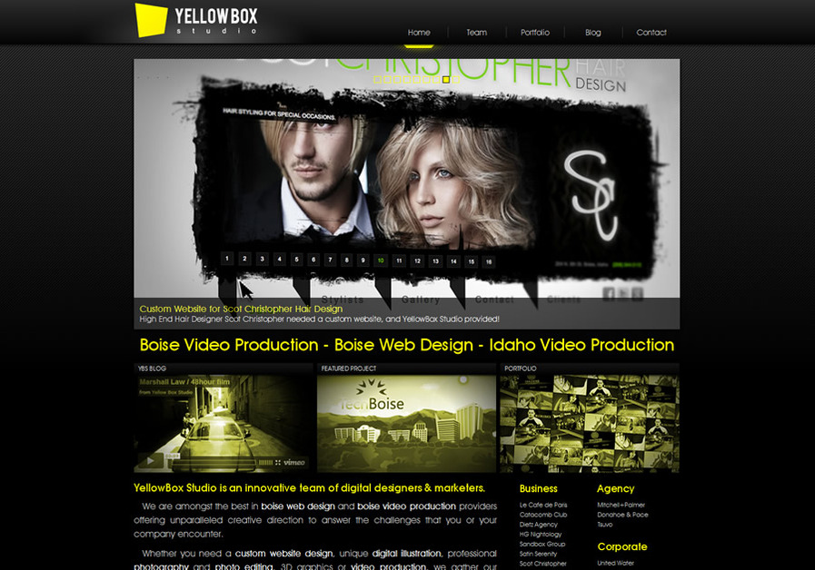 A great web design by YellowBox Studio, Boise, ID: