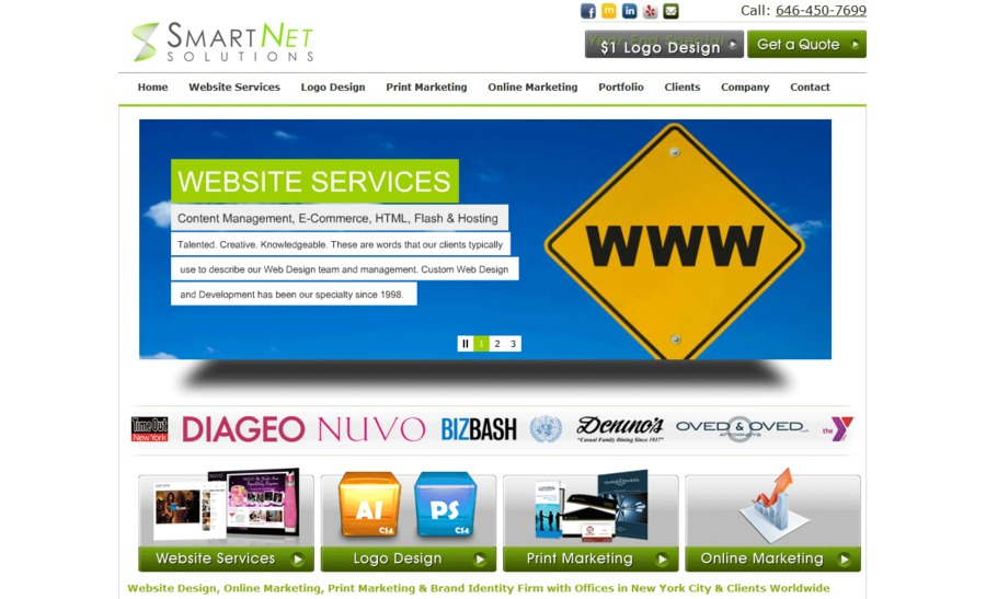 A great web design by SmartNet Solutions , New York, NY:
