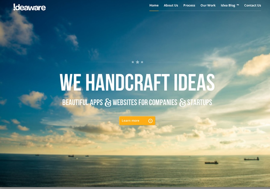 A great web design by Ideaware: