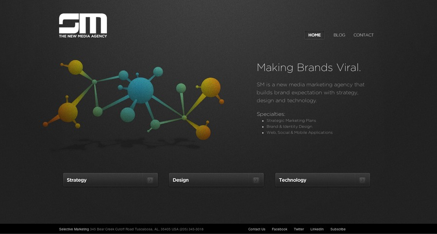 A great web design by SM Agency, Birmingham, AL: