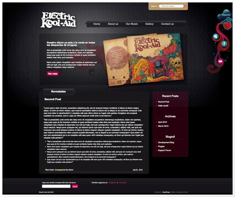 A great web design by Silvana Juri, Montevideo, Uruguay:
