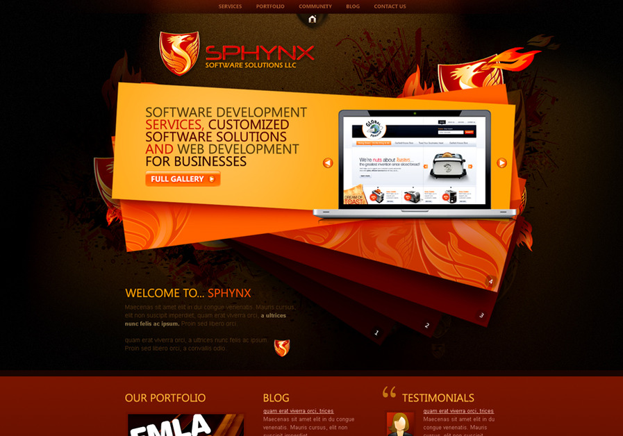 A great web design by TwigsDezines, Hyderabad, India: