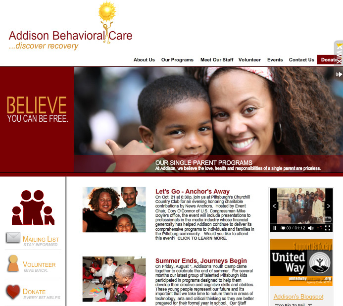 A great web design by Dabeka Ink, Atlanta, GA:
