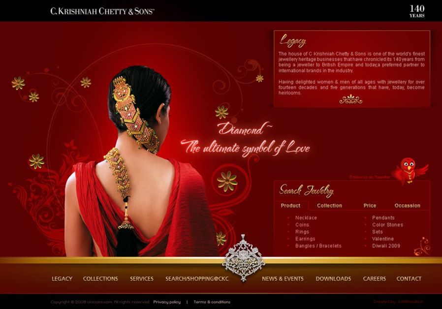 A great web design by Rub the Chirag, Mumbai and Delhi and Bangalore, India: