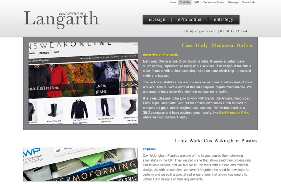 A great web design by Langarth, London, United Kingdom: