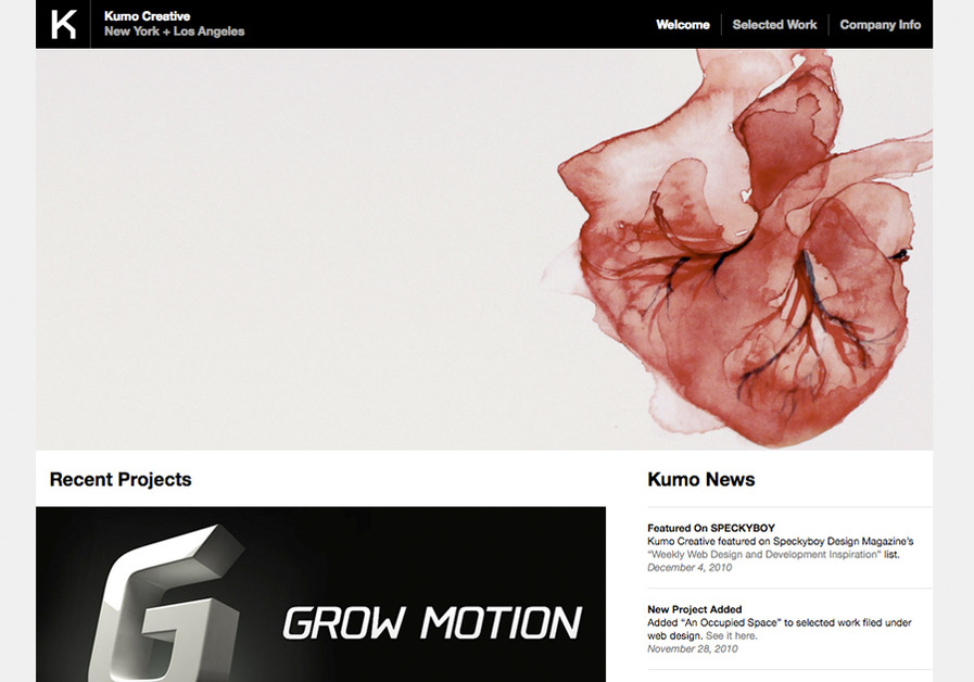 A great web design by Kumo Creative, New York, NY: