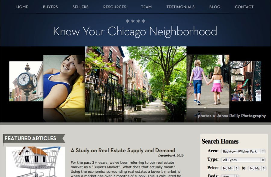 A great web design by Marshall Creative, Chicago, IL: