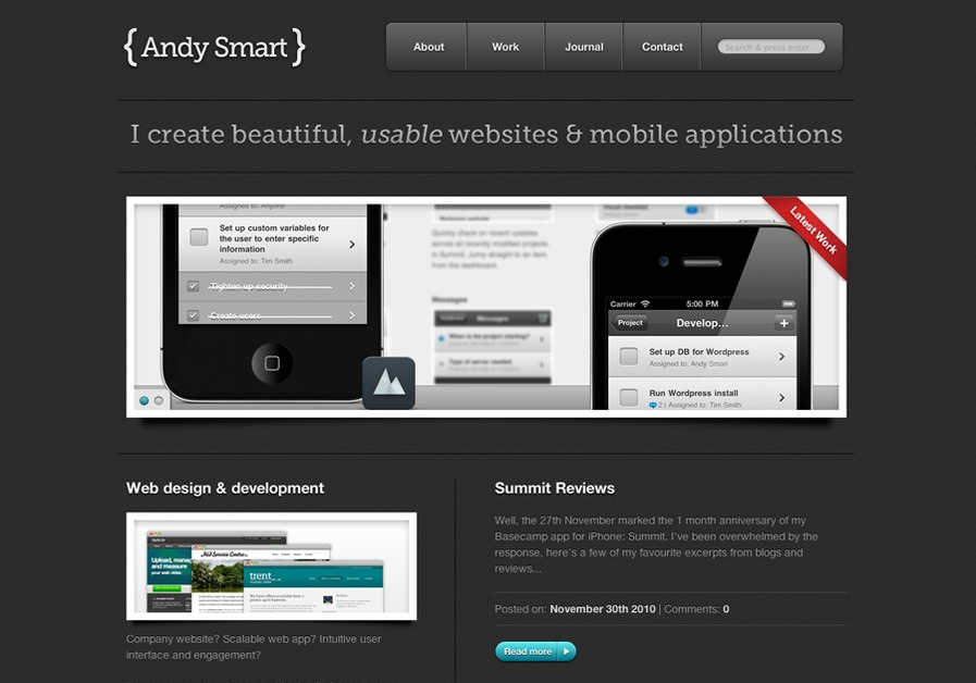 A great web design by Andy Smart, Birmingham, United Kingdom: