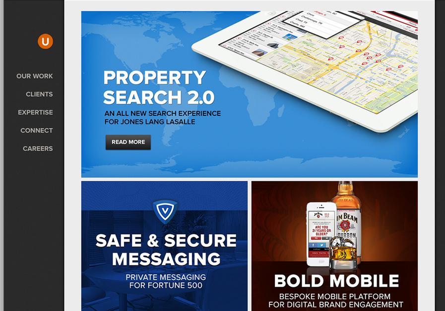 A great web design by UnitOneNine, Chicago, IL: