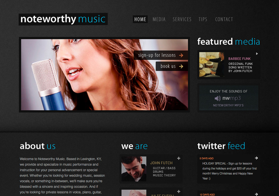 A great web design by Matt Oatley, Lexington, KY: