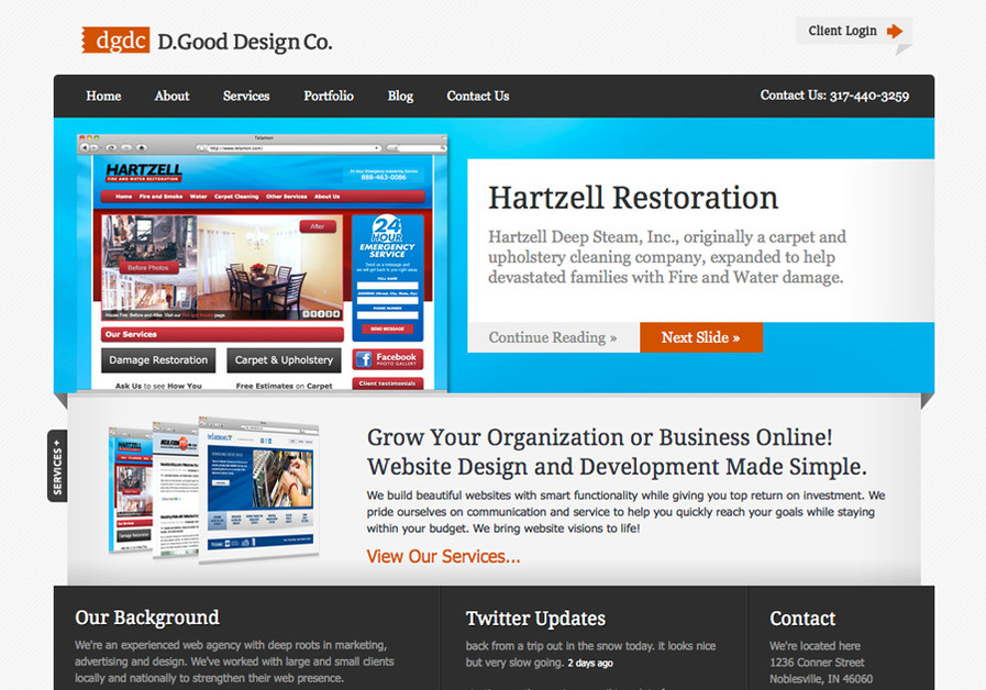 A great web design by D.Good Design Co., Indianapolis, IN: