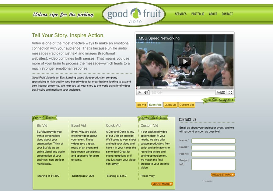 A great web design by Gravity Works Design & Development, Lansing, MI: