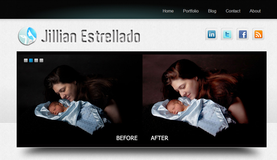 A great web design by Jillian Estrellado, Manila, Philippines: