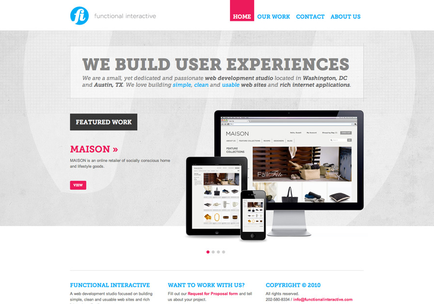A great web design by Functional Interactive, Washington DC, DC: