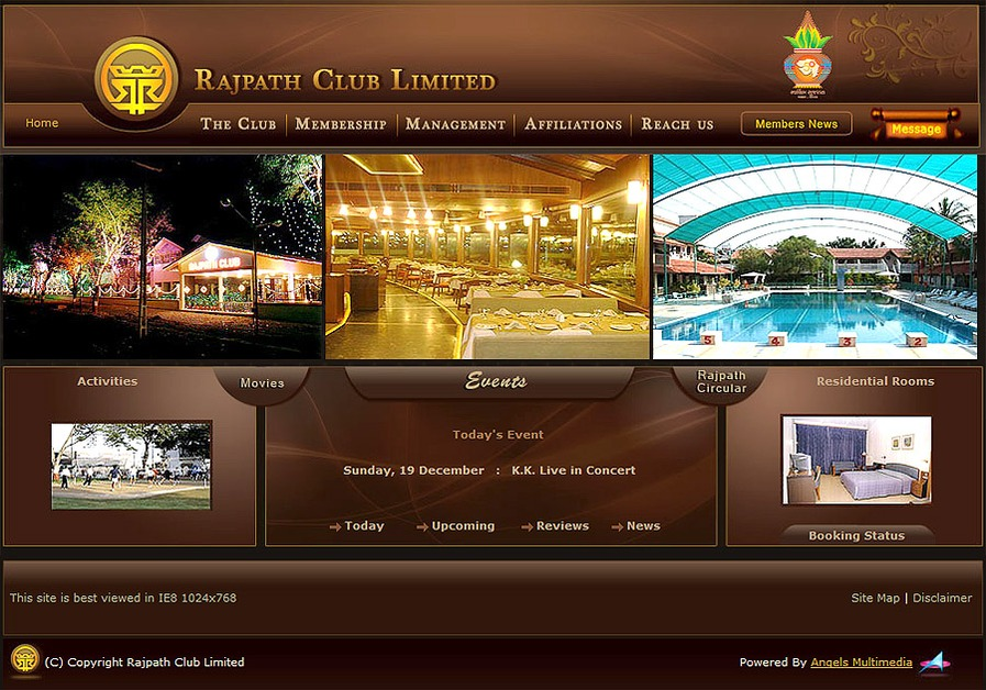 A great web design by Angels Multimedia, Ahmedabad, India:
