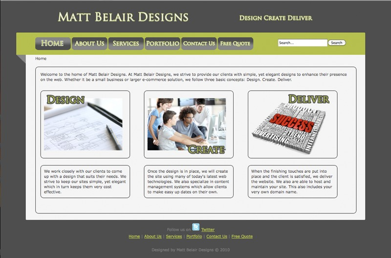 A great web design by Matt Belair Designs, Spokane, WA: