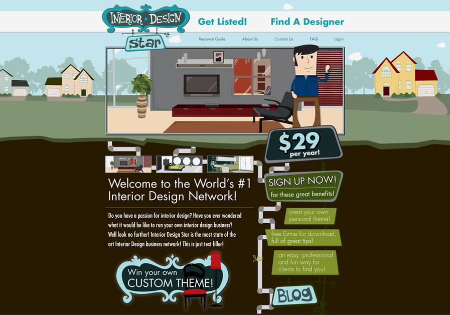 A great web design by Pink Turkey, Princeton, NJ: