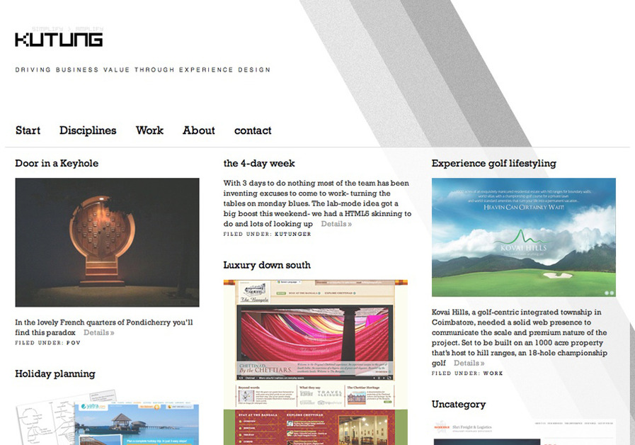 A great web design by Kutung Digital Services, Chennai, India: