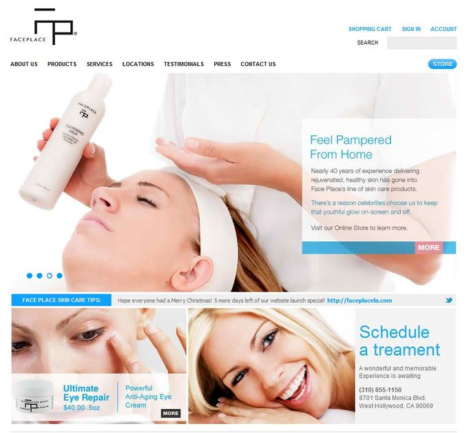 A great web design by Excela, Los Angeles, CA: