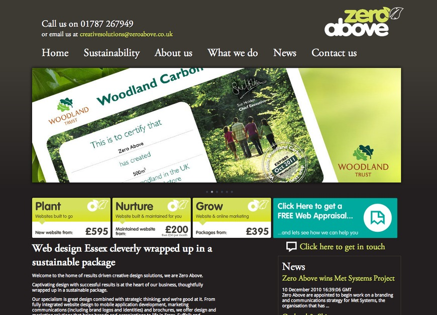 A great web design by Zero Above, Colchester, United Kingdom:
