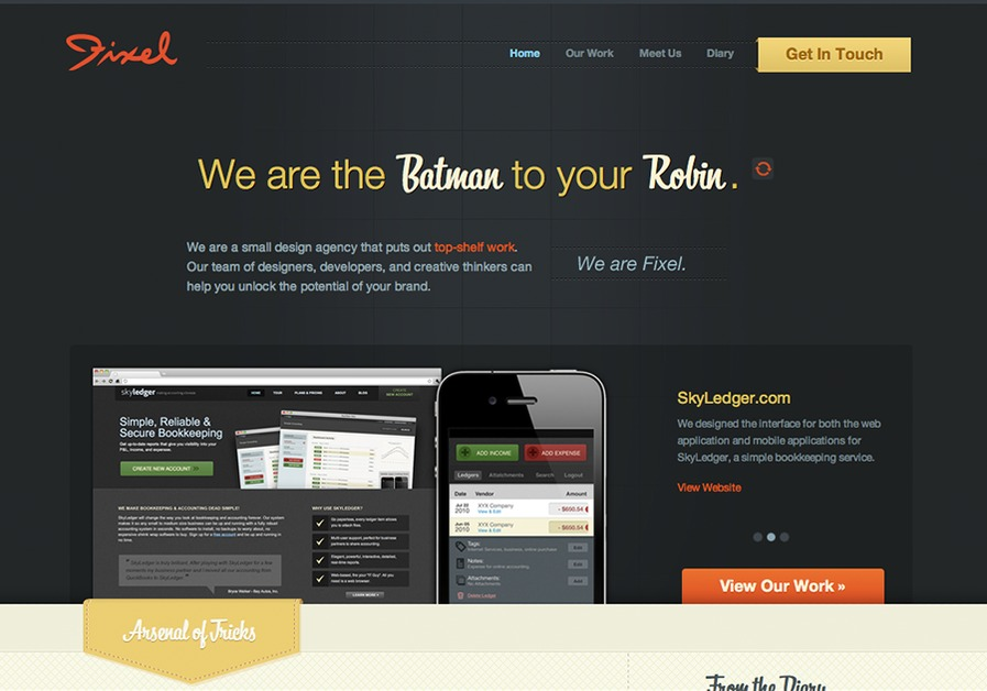 A great web design by Fixel, Portland, OR: