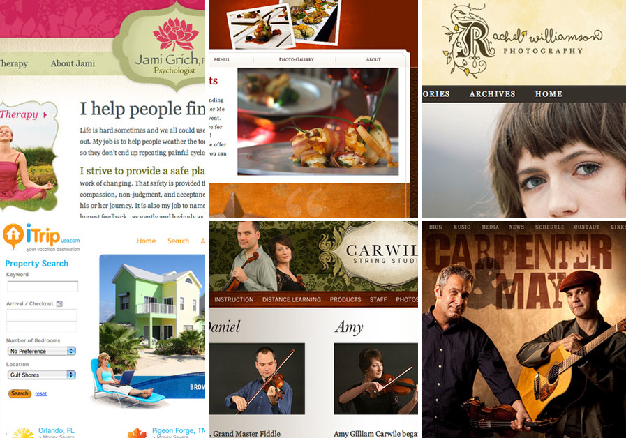 A great web design by Kristin Heather Design, Austin, TX: