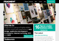 A great web design by Fragment, Raleigh, NC: