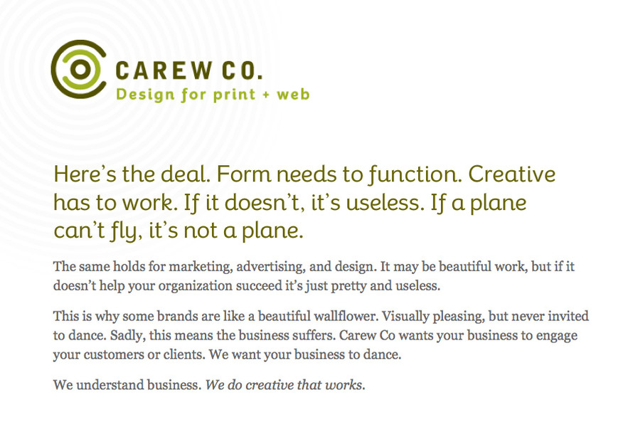 A great web design by Carew Co., Boise, ID: