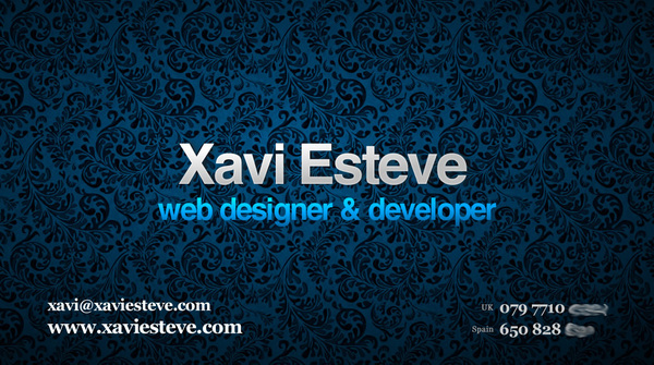 A great web design by Xavi Esteve, London, United Kingdom: