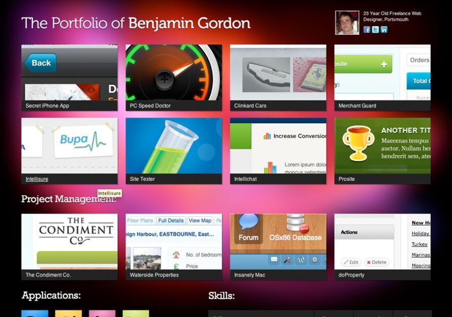 A great web design by Benjamin Gordon, Portsmouth, United Kingdom: