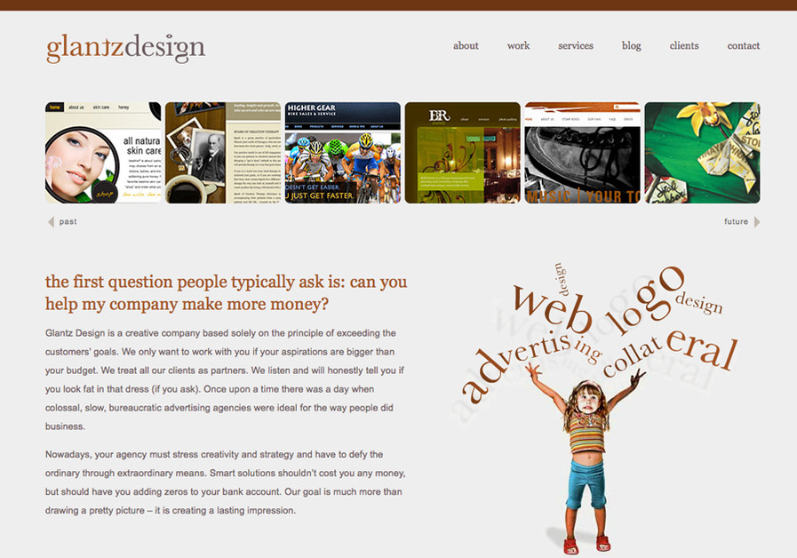 A great web design by Glantz Design, Chicago, IL: