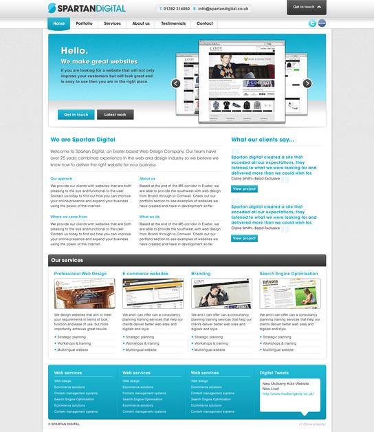 A great web design by Spartan Digital, Devon, United Kingdom: