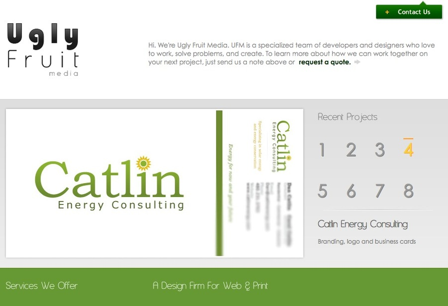 A great web design by Ugly Fruit Media, Salt Lake City, UT: