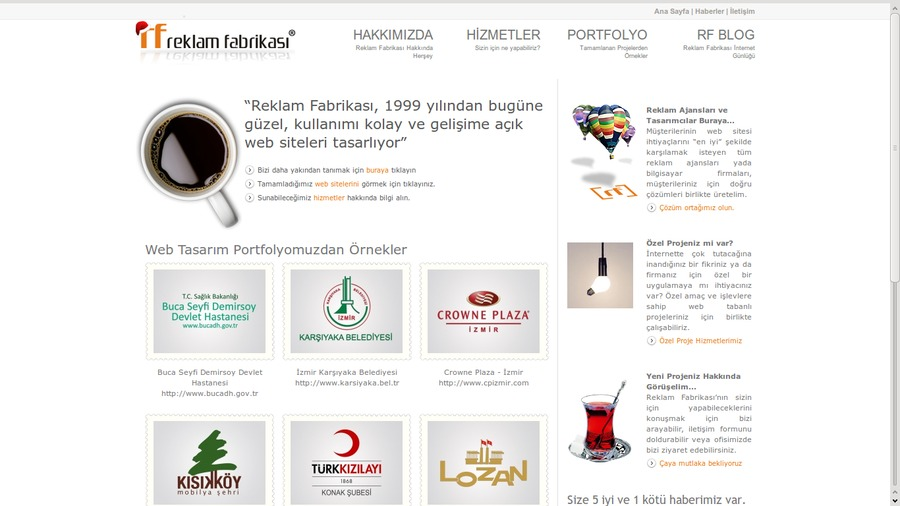 A great web design by Reklam Fabrikası, Izmir, Turkey: