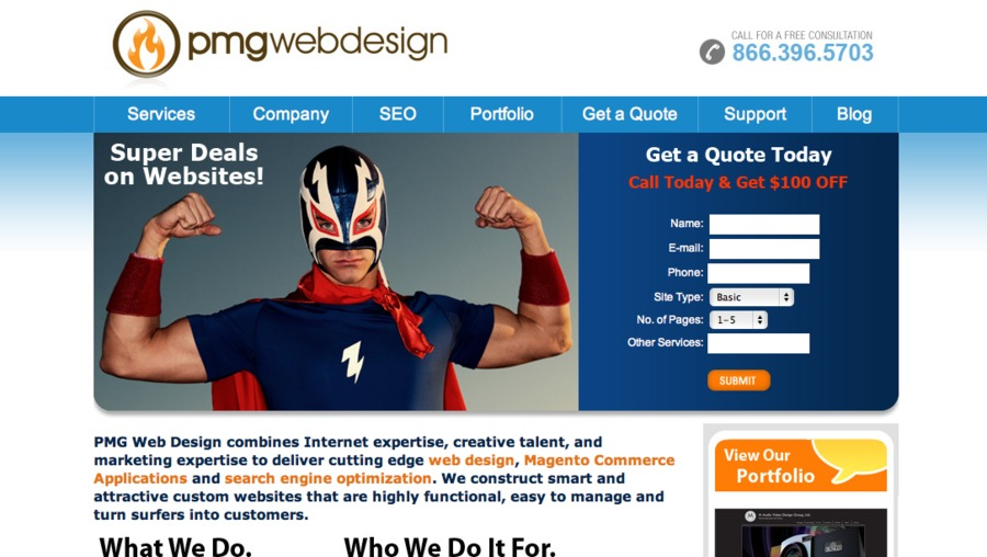 A great web design by PMG Web Design, Dallas, TX: