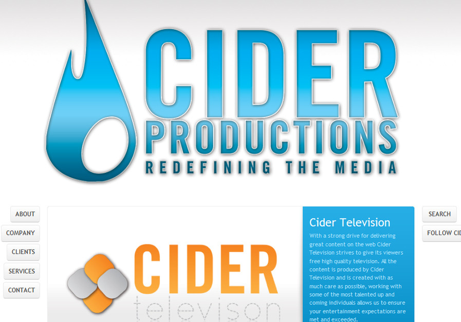 A great web design by Cider Productions, Toronto, Canada: