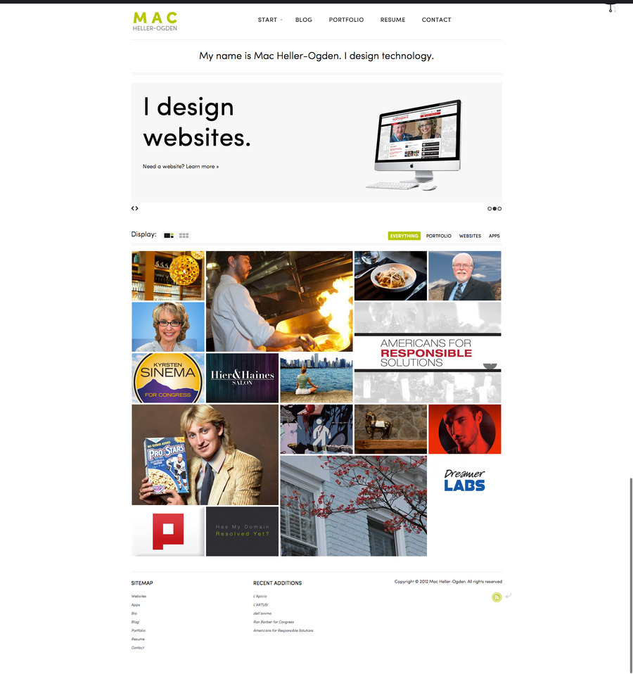 A great web design by Mac Heller-Ogden, Chicago, IL: Responsive Website, Portfolio , Internet , Wordpress