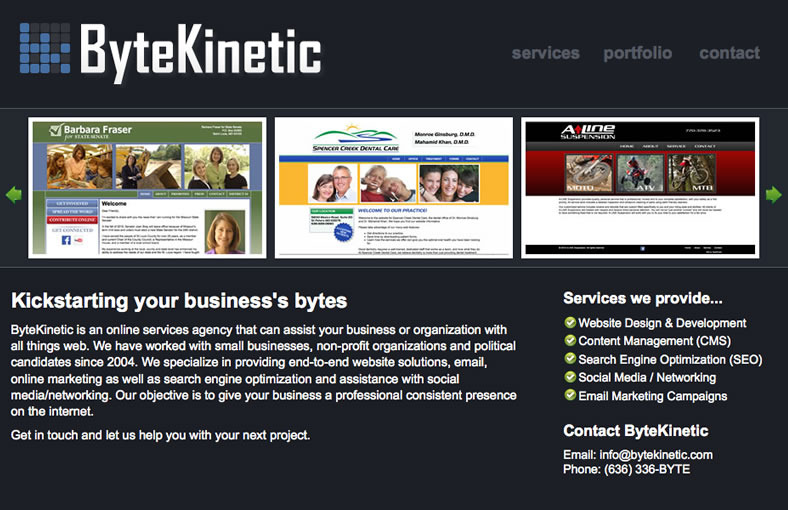 A great web design by ByteKinetic, Jefferson City, MO: