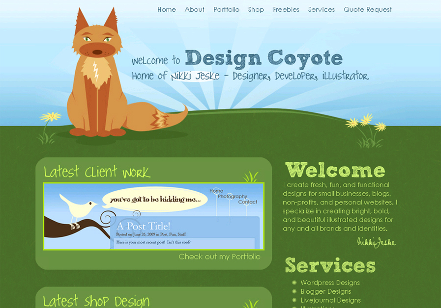 A great web design by Design Coyote, Dallas, TX: