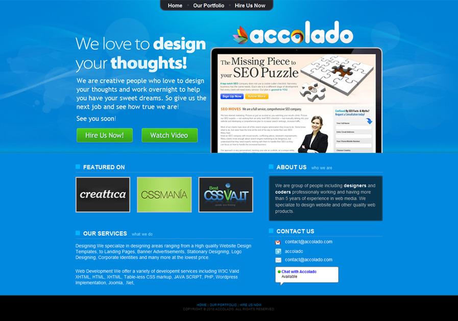A great web design by Accolado, Chandigarh, India: