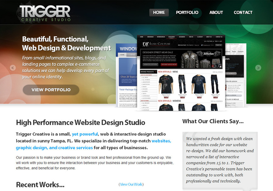 A great web design by Trigger Creative, Tampa, FL: